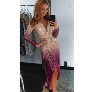✨ Stunning sequin formal dress gown